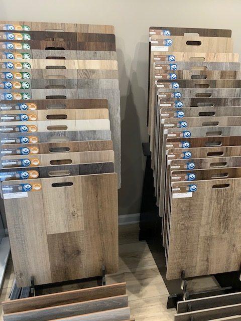 wood floor display